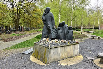 Jewish Cemetery, Warsaw - A monument (Cenotaph) dedicated to Janusz Korczak