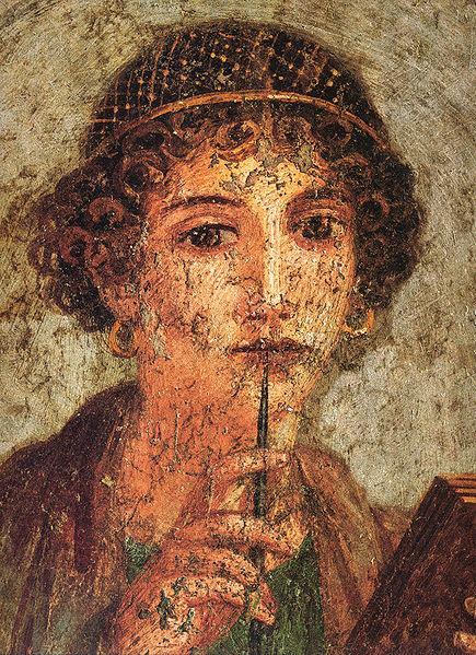 Fichier:Pompei - Sappho - MAN.jpg