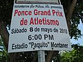 Ponce Grand Prix sign at Paquito Montaner Stadium in Ponce (IMG 3374).jpg