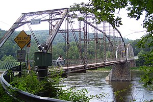 Shohola Township, Pike County, Pennsylvania - Pond Eddy Bridge over the Delaware River