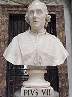 Pope Pius VII statue