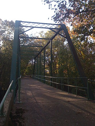 Port Royal State Park - A Pratt truss bridge built in 1887 spans the Sulphur Fork Creek.
