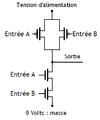 Porte NAND fabriquée avec des transistors. 04.png