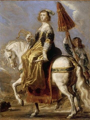 Portrait équestre d'Anne d'Autriche