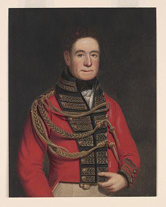 Wyangala - Portrait of Lachlan Macquarie 1874