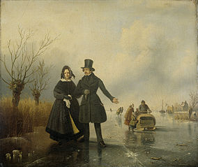 Portrait of Mr. and Mrs. Thijssen on the Ice