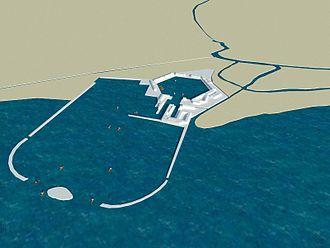 Portus - Portus: Claudius' first harbour and hexagonal basin extension under Trajan.