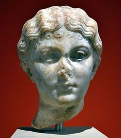 Possibly bust of Iulia Livilla Antikensammlung Berlin Sk 1802 (cropped).jpg