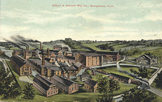 Redding, Connecticut - Image: Postcard Georgetown CT Gilbert And Bennett Mfg 1909