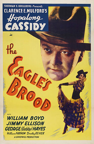 Hopalong Cassidy - Poster for the 1935 Hopalong Cassidy film The Eagle's Brood