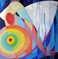 Poupetova Miluse Vypluti - Ty jez ridis lod mou, ved plachty me, olej, 80x80cm, 2011.jpg