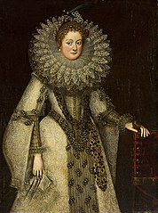 Portrait of a lady in Spanish dress.
