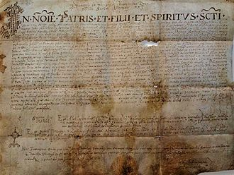 "Croatian nobility - Duke Muncimir's charter from 892. (transcript): divino munere Croatorum dux (""with God's help, Duke of the Croats"")."
