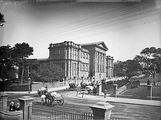 Australian Museum - The completed Barnet wing of the museum c. 1870