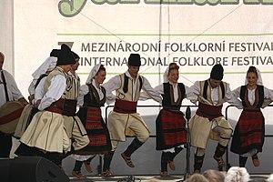 Serbian dances - Image: Praha, Staré Město, Ovocný trh, Pražský jarmark, srbské lidové tance VI
