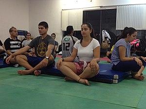 Yoga as exercise - Portuguese yoga session