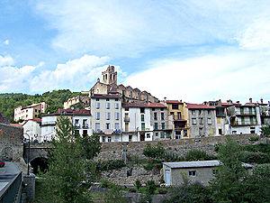 Prats-de-Mollo-la-Preste - Panoramic view of the town.