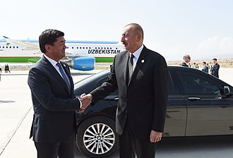 Mukhammedkalyi Abylgaziev - Abulgaziyev with Ilham Aliyev