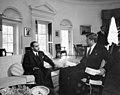 President John F. Kennedy Meets with the Ambassador of Afghanistan, Mohammad Hashim Maiwandwal (01).jpg