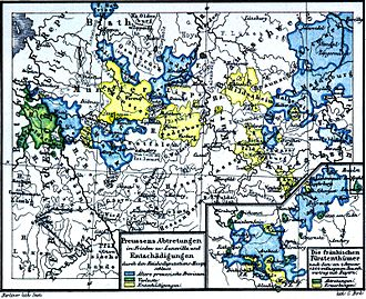 German mediatisation - Prussia's territorial losses and gains during the period