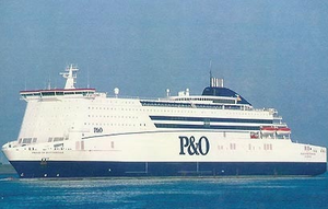 P&O Ferry Pride of Rotterdam, one of the Hull–Rotterdam sister flagships of P&O Ferries