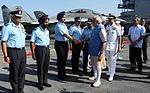 Prime Minister Narendra Modi meeting top Air Force Commanders at the Combined Commanders' Conference 2015.JPG