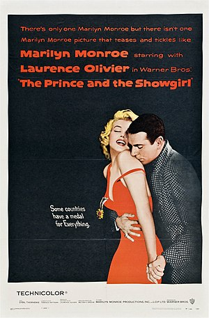 The Prince and the Showgirl - Movie poster by Bill Gold