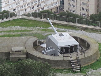 Princess Anne's Battery - One of the emplacements at Princess Anne's Battery on Willis's Plateau