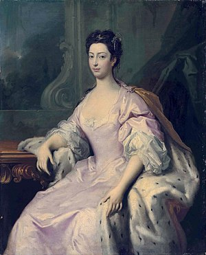Princess Caroline of Great Britain - Portrait by Jacopo Amigoni