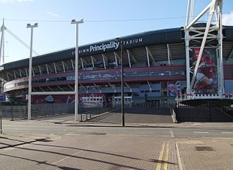 Millennium Stadium - The Westgate Street entrance (BT Stand)