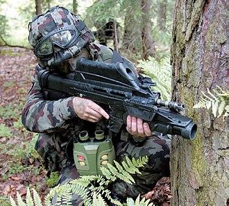 FN F2000 - GL1 mounted on F2000
