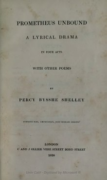 Prometheus Unbound - Shelley.djvu