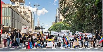 Protests opposing Venezuelan Bolivarian Revolution in Avenida Paulista, São Paulo, Brazil.jpg