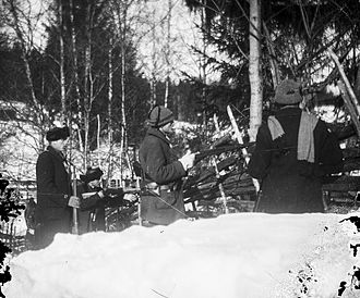 Red Guards (Finland) - Red Guard fighters in Ruovesi.