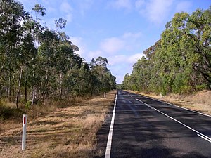 Putty Road - Image: Putty Road near Wombat Swamp