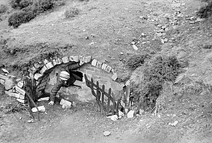 Pwll Du Tunnel - Southern portal at Blaenavon in 1974
