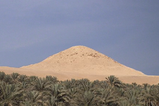 Ruined pyramid complex of Djedkare Isesi in South Saqqara