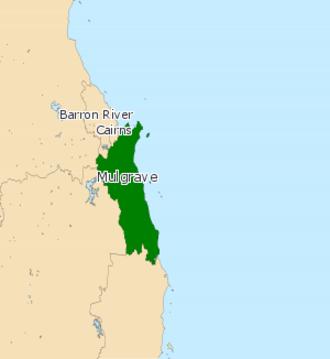 Electoral district of Mulgrave (Queensland) - Electoral map of Mulgrave 2008