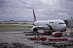 Qantas (VH-OGL) Boeing 767-338ER at the domestic terminal at Sydney Airport.jpg