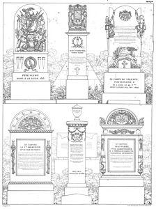 Quaglia - Le père Lachaise ou Recueil de dessins des principaux monuments de ce cimetière - Planche 6.jpg