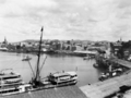 Queensland State Archives 39 Brisbane central business district and Circular Quay looking from Bowen Terrace New Farm April 1929.png
