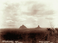 Queensland State Archives 5105 Beerwah and Coonowrin from Little Hill 26 March 1894.png