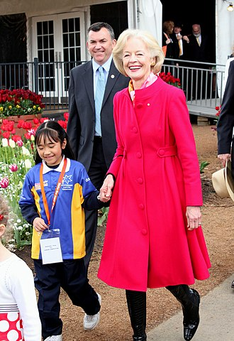 Quentin Bryce - Bryce at Floriade, the national flower show in Canberra on 3 October 2010.