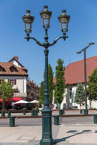 Street light in Annecy, France