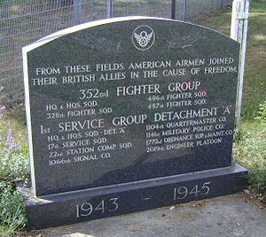 RAF Bodney - Memorial to the 352d Fighter Group at Bodney Airfield.