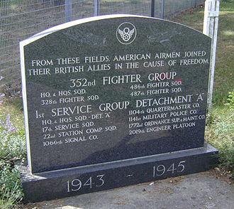 RAF Bodney - Memorial to the 352d Fighter Group at Bodney Airfield.