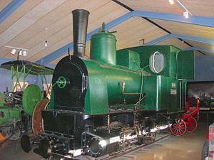 Rail transport in Iceland - Locomotive Pioner as preserved today.