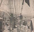 RI Dewarutji crew at helm, Sang Saka Melanglang Djagad, p74.jpg
