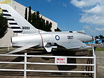 ROCAF F-100A 0207 Display at Aviation Museum Right Rear View 20130928.jpg