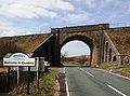 Railway bridge over the A684 road.jpg